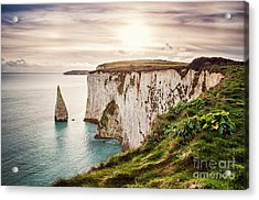 Old Harry Rocks, Located At Handfast Acrylic Print