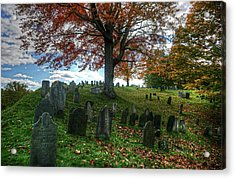 Old Hill Burying Ground In Autumn Acrylic Print