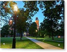Old Main Lights - University Of Arkansas Acrylic Print