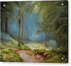 Old Mans Path Acrylic Print by Mikael Wigen