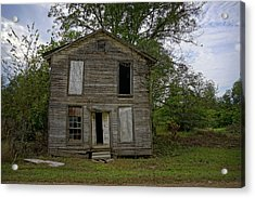 Old Masonic Lodge In Ruins Acrylic Print