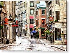 Old Montreal Morning Street Scene 2010 Acrylic Print