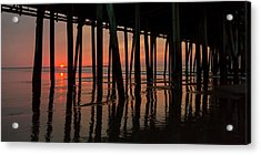 Old Orchard Beach Fishing Pier Welcome To The Day Acrylic Print