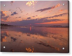 Old Orchard Beach Glorious Sunset Acrylic Print