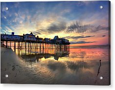 Old Orchard Beach Maine Sunrise Acrylic Print