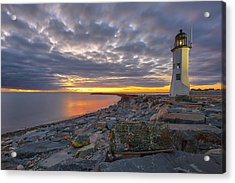 Acrylic Print featuring the photograph Old Scituate Light by Juergen Roth