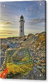Acrylic Print featuring the photograph Old Scituate Lighthouse by Juergen Roth