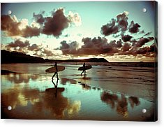 Old Skool Surf Acrylic Print by Landscapes, Seascapes, Jewellery & Action Photographer