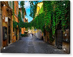 Old Street At In Trastevere, Rome Acrylic Print