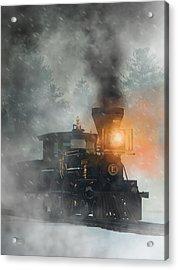 Acrylic Print featuring the digital art Old West Steam Train  by Daniel Eskridge