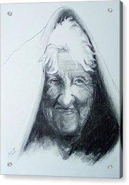 Old Woman Acrylic Print