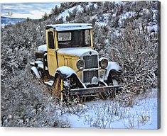 Old Yellow Truck Acrylic Print