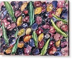 Olives Ready For Pressing Acrylic Print