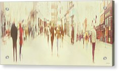 On Grafton Street Acrylic Print by Norma Slack