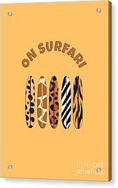 On Surfari Animal Print Surfboards  Acrylic Print