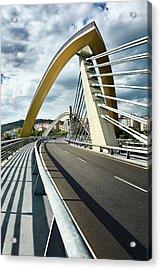 Millennium Bridge In Ourense, Spain Acrylic Print