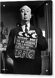 On The Set Of Psycho Acrylic Print