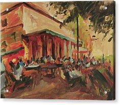 On The Terrace In Autumn 2011 Acrylic Print