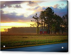 Acrylic Print featuring the photograph Onc Open Road Sunrise by Cindy Lark Hartman