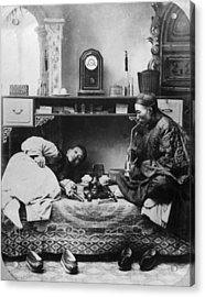 Opium Smokers Acrylic Print by Hulton Archive