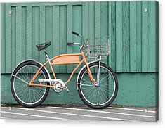 Orange Bike Acrylic Print by Tbd