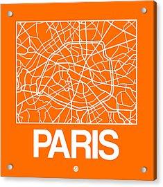 Orange Map Of Paris Acrylic Print