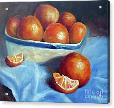 Oranges And Blue Acrylic Print