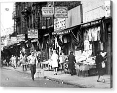 Orchard Street Market On The Lower East Acrylic Print by New York Daily News Archive