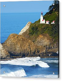 Acrylic Print featuring the photograph Oregon Coast Heceta Head Lighthouse 116 by Rospotte Photography