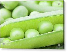 Organic Peas Acrylic Print by Andrew Dernie