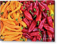 Acrylic Print featuring the photograph Organic Peppers by Tim Gainey