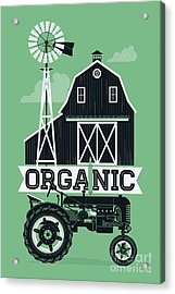 Organic Poster Or Web Banner Template Acrylic Print