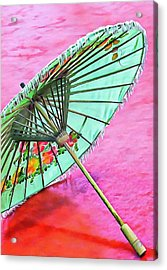 Acrylic Print featuring the photograph Oriental Green Parasol by Dorothy Berry-Lound