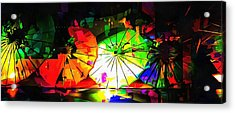 Acrylic Print featuring the photograph Oriental Parasols Abstract by Dorothy Berry-Lound