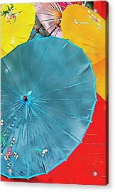 Acrylic Print featuring the photograph Oriental Parasols Mixture by Dorothy Berry-Lound
