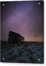 Acrylic Print featuring the photograph Orion  by Aaron J Groen