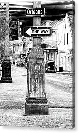 Orleans Street One Way Sign Acrylic Print