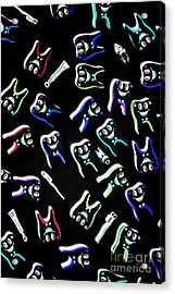 Orthodontist Comic X-ray Acrylic Print