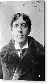 Oscar Wilde Acrylic Print by Alfred Ellis & Walery