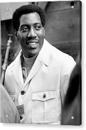 Otis Redding At Monterey Pop Acrylic Print by Michael Ochs Archives