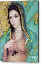 Our Lady Of Guadalupe, 1/2 Acrylic Print