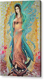 Our Lady Of Guadalupe 3/4 Acrylic Print