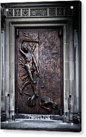 Acrylic Print featuring the photograph Our Lady Of Sorrows Doorway Color Version by Brian Carson