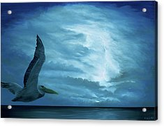 Acrylic Print featuring the painting Out Of The Blue by Kevin Daly