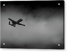 Out Of The Clouds - A-10c Thunderbolt Acrylic Print
