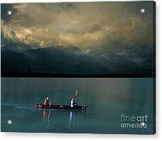 Acrylic Print featuring the mixed media Outdoor Delight by Eva Lechner