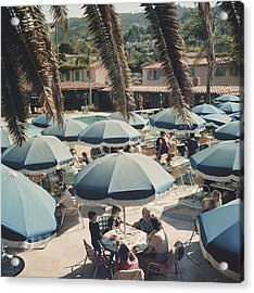Outdoor Dining Acrylic Print by Slim Aarons