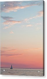 Acrylic Print featuring the photograph Outer Banks Sailboat Sunset by Nathan Bush