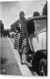 Outfit By Paquin Acrylic Print by Seeberger Freres