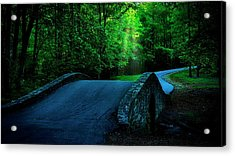 Over The Bridge And Through The Woods Acrylic Print